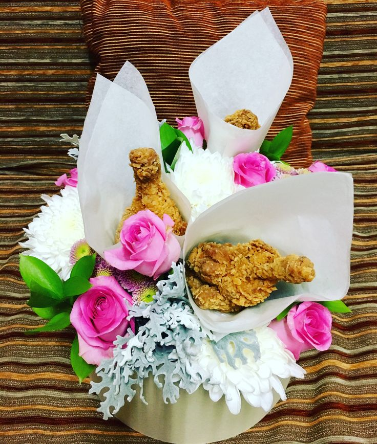 Chicken fried with rose Bucket