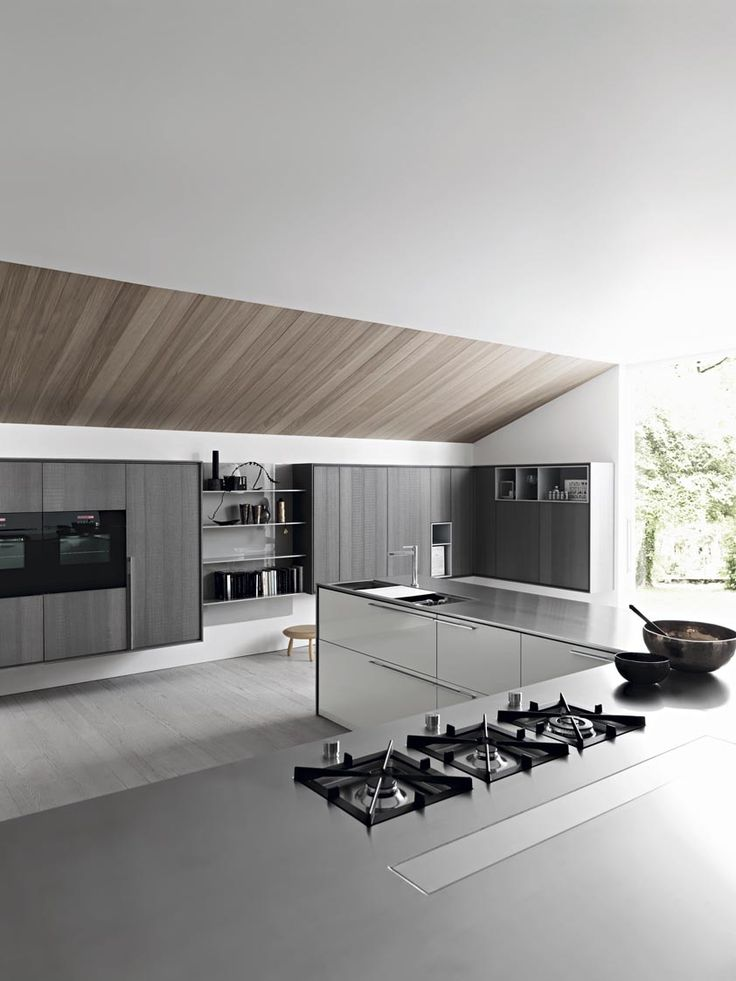 Black Kitchen Appliances Built In To Contempoary Kitchen Cabinets Add A  Bold Statement To The Neutral Kitchen BY CESAR ARREDAMENTI