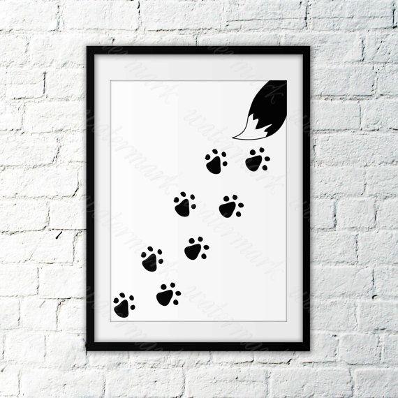 Animal footprint wall art Nursery Print от DigitalPrintArtShop