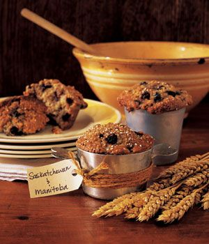 Red River Cereal & Saskatoon Berry Muffins - a touch of Canadiana