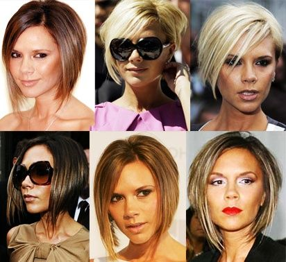Beckham aka Posh Spice with the Pob (Posh Bob). posh-bob-hairstyle ( love her shes so beautiful)