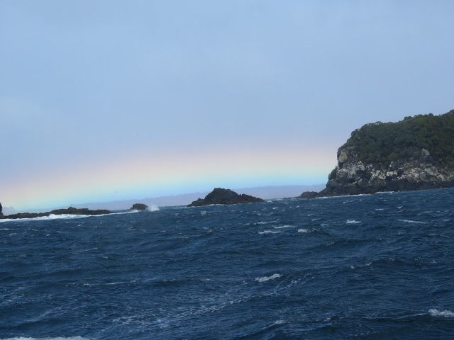Bird Photos, Birding Sites, Bird Information: RAINBOW OVER PATERSON INLET, STEWART ISLAND, NEW Z...