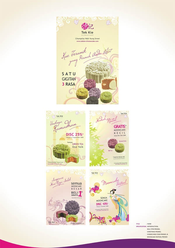 Final Project // Occasion Flyer //  Branding Tek Kie Chinese Cake by Wenny Lee, via Behance