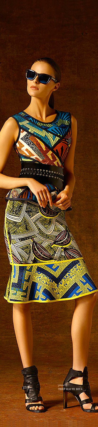 Hervé Léger by Max Azria Pre-Fall 2015 ~Latest African Fashion, African Prints, African fashion styles, African clothing, Nigerian style, Ghanaian fashion, African women dresses, African Bags, African shoes, Nigerian fashion, Ankara, Kitenge, Aso okè, Kenté, brocade. ~DKK