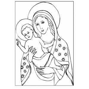 Bible coloring pages Madonna With