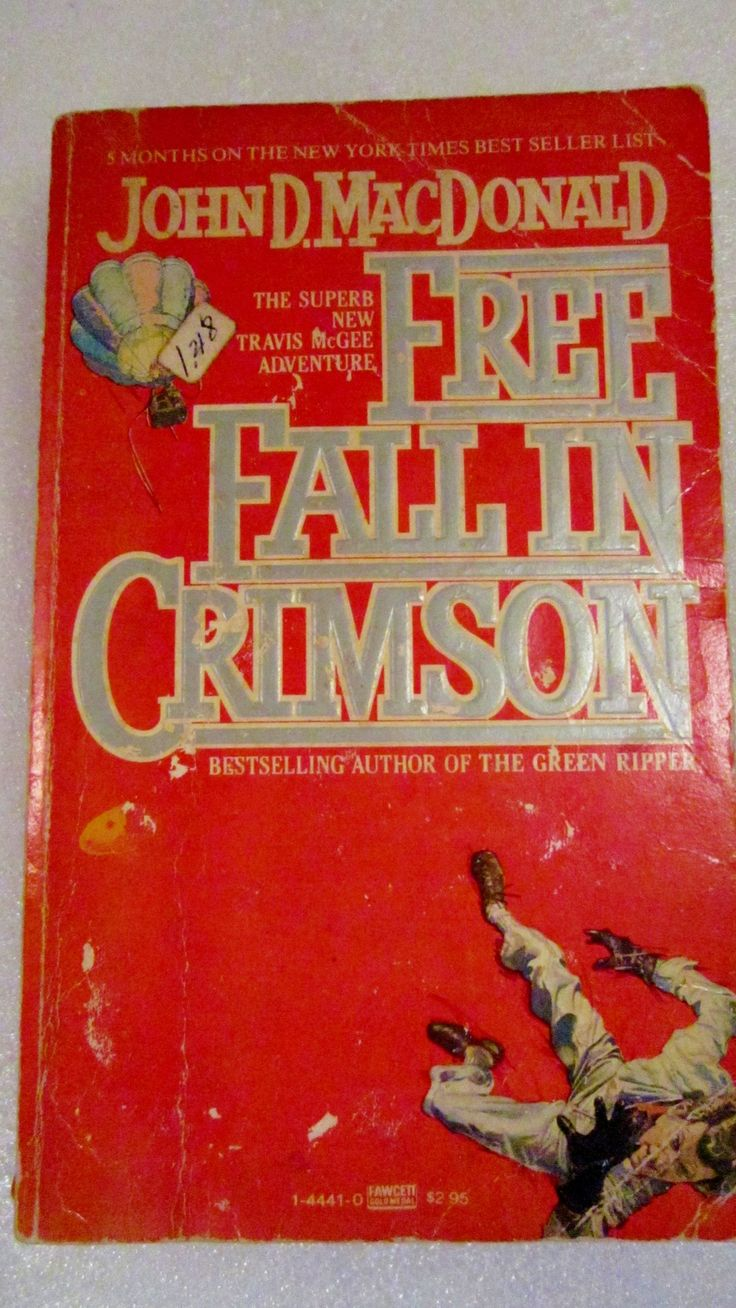 Free Fall In Crimson 1981 John D Macdonald Paperback This Is A Freebie!  Choose One Freebie For Each Book Purchased Free Fall In Crimson Is John D