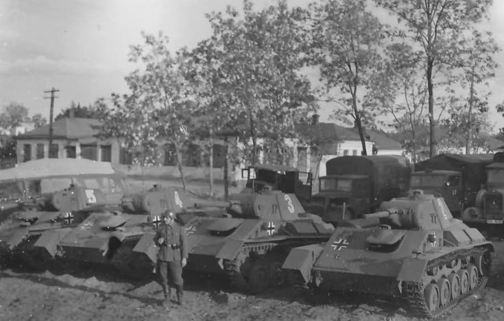 A group of captured T-70s in German service.
