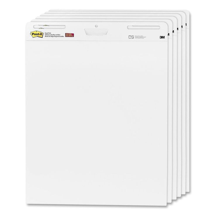 Post-it Self-Stick Easel Pads, 25 x 30.5 Inches, 30-Sheet Pad, 6 pads, (559 VAD 6PK)