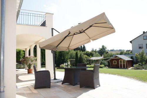 Schneider Sonnenschirm Rhodos Natur Ca 300 X 300 Cm Quadratisch