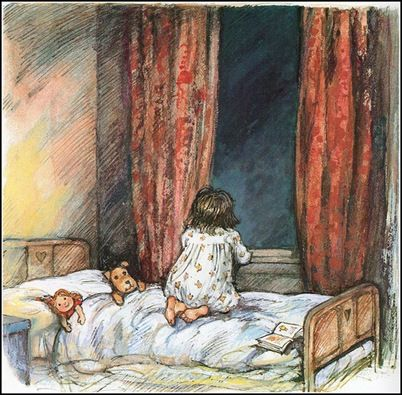 Shirley Hughes Me as a kid... always curious about what was in the sky.