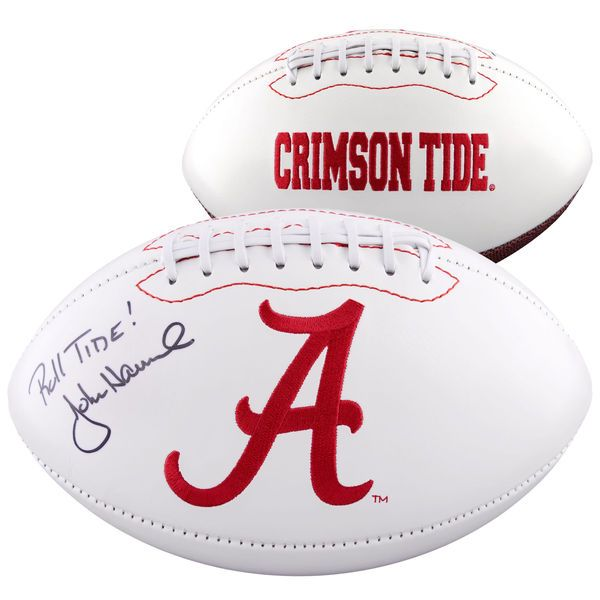 John Hannah Alabama Crimson Tide Fanatics Authentic Autographed Logo Football with Roll Tide Inscription - $129.99