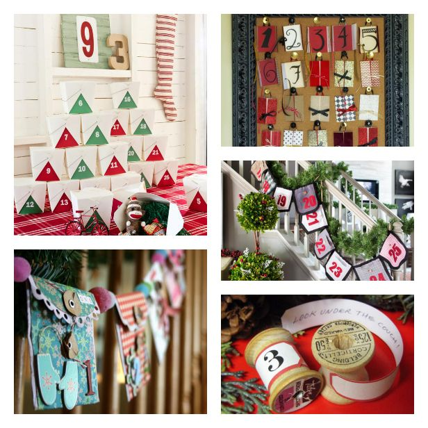 183 best images about holiday favorites on pinterest for Handmade christmas countdown calendar