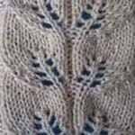 вязание спицами схемы ажурных узоров Полоска с листьями