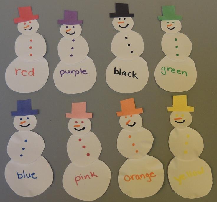 Child Care Resources: Snowman Color Match
