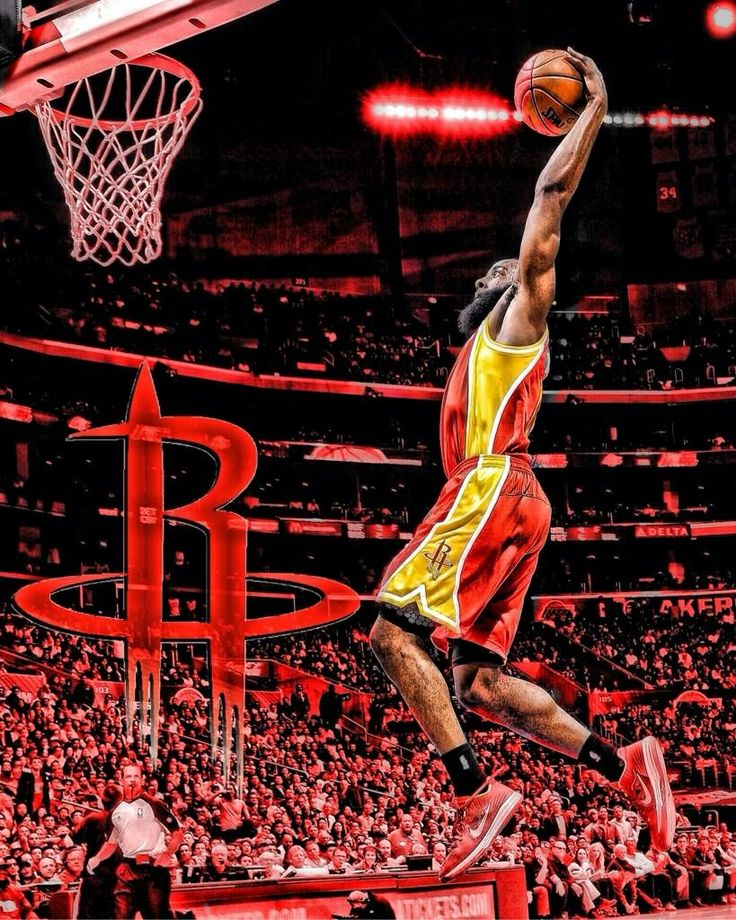 Knight Basketball Player Wallpaper: James Harden For The Dunk