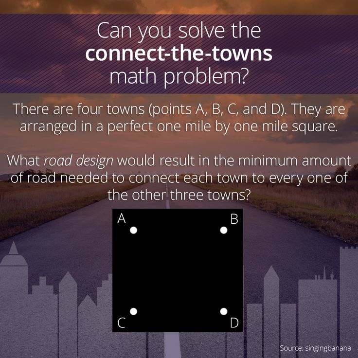 29 best logic and puzzles images on pinterest puzzle puzzles and here is the connect the towns math problem there are four towns fandeluxe Images