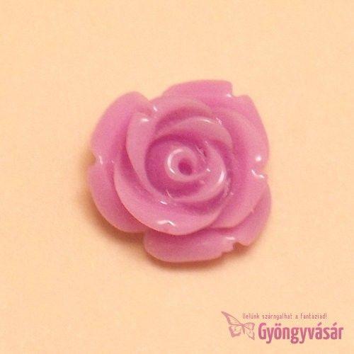 Lila, 14 mm-es fűzhető rózsa - műgyanta gyöngy • Gyöngyvásár.hu