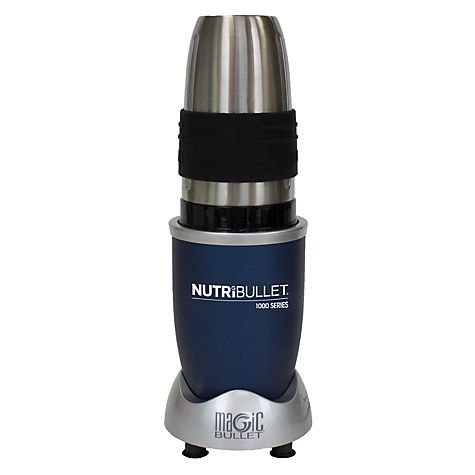 Buy NutriBullet 9 Piece 1000 Series Juicer Blender, Blue with FREE NutriBlast Booster Mix, Seed and Fruit Online at johnlewis.com