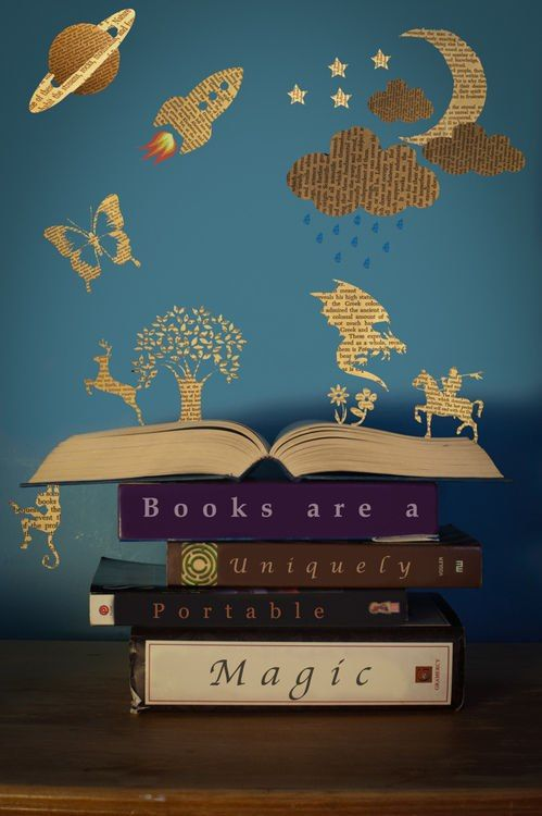 Cute book page silhouettes! I'd Like to Credit the Artist… | Going Beyond Survival in a School Library