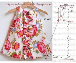 Vestido de criança com estampado florido