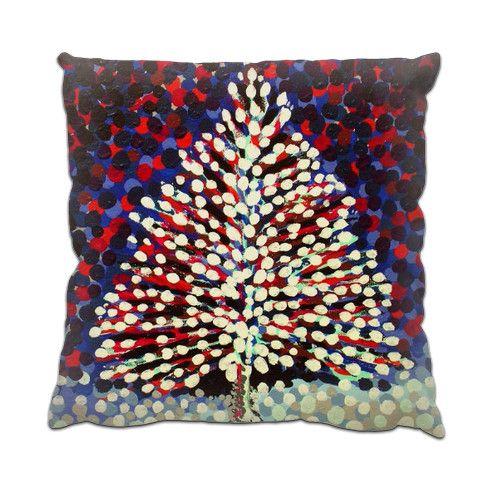 The Snow Tree Cushion by hoganfinland at zippi.co.uk #zippi #pillows #cushions #home #sofa #comfy #tree #decor #snow #christmas #seasonal #art #paintings #nagohnala