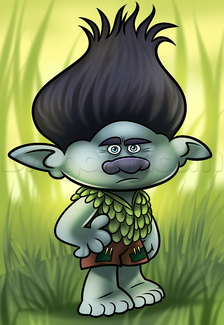 Draw Branch From Trolls How To Draw Drawings Troll