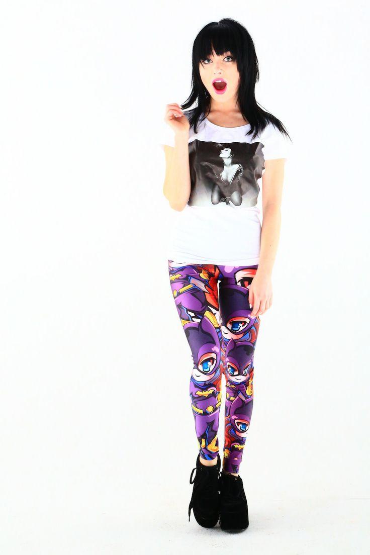 Chibi Bat Girl Leggings