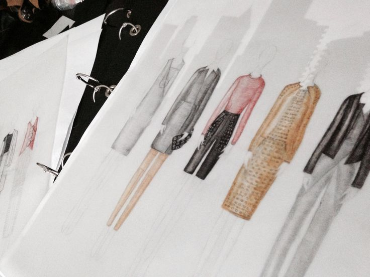 Fashion illustration. Line up. Exam collection. Fashion design Akademiet 2014