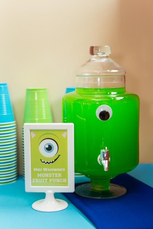 Monster themed punch....total cuteness...