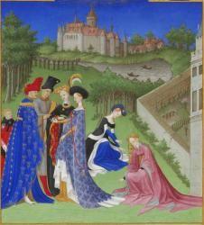 """""""De fil en aiguille"""" - Les Très Riches Heures du Duc de Berry (vers 1440)"""