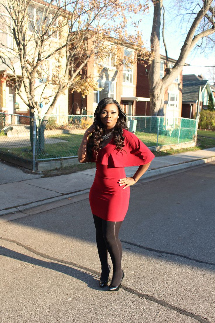 Cape meets Ox-blood in this playful mini dress – tinacolette