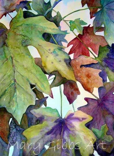 Mary Gibbs is a self-taught artist with a life-long interest in art. Her watercolors are uniquely realistic, using bright colors to catch the viewer's eye, from vivid foliage and floral, to architecture and domestic cats.