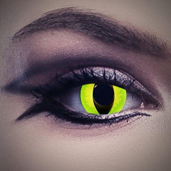 Katzenaugen Kontaktlinsen gelb-grün, Tierlinsen Katze
