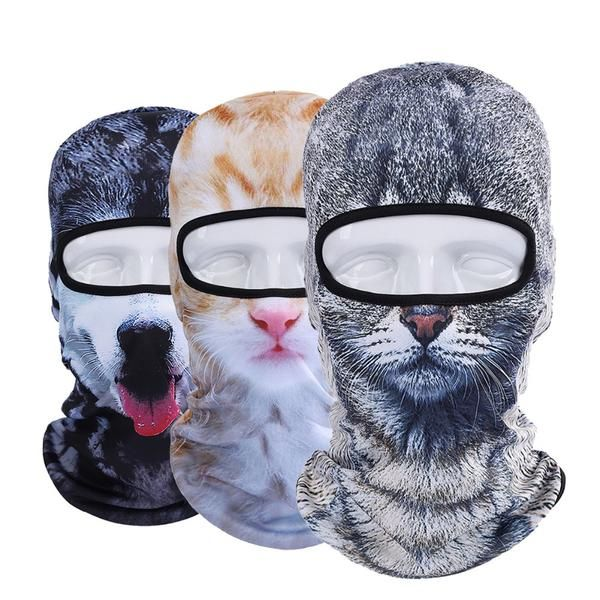 FuzWeb:2017 New 3D Cat Dog Animal Balaclava Bicycle Bike Motorcycle Hats Snowboard Party Halloween Full Face Mask