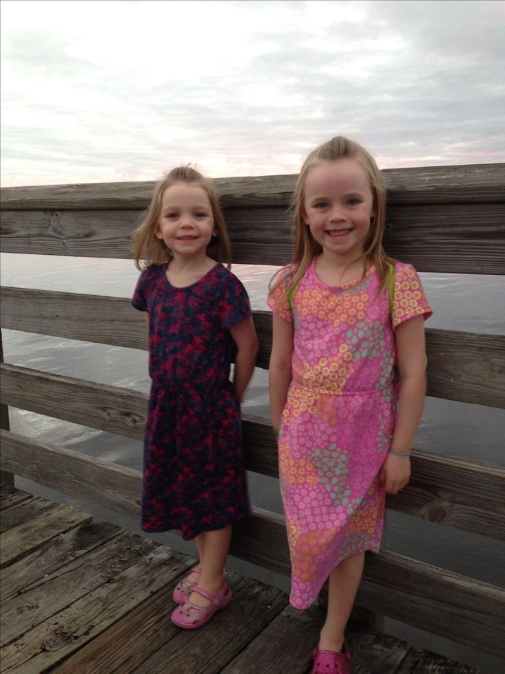 The girls are so happy in their Mae dresses from Heather Hughes Lula Roe!!!
