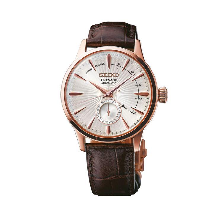 Ανδρικό ρολόι SEIKO SSA346J1 Automatic με ροζ καντράν, αυτόματο μηχανισμό, ημερομηνία, ένδειξη εφεδρικής ισχύος και καφέ λουρί | ΤΣΑΛΔΑΡΗΣ στο Χαλάνδρι #seiko #automatic #presage #λουρι #tsaldaris