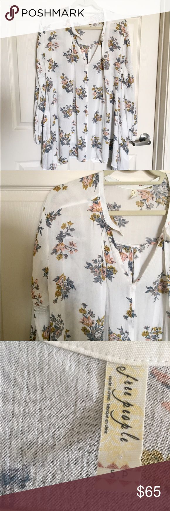 Free People Long Sleeve Flowy Dress Worn a few times. In great condition. Free People Dresses
