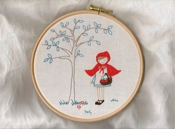 little red riding hood + embroidery!