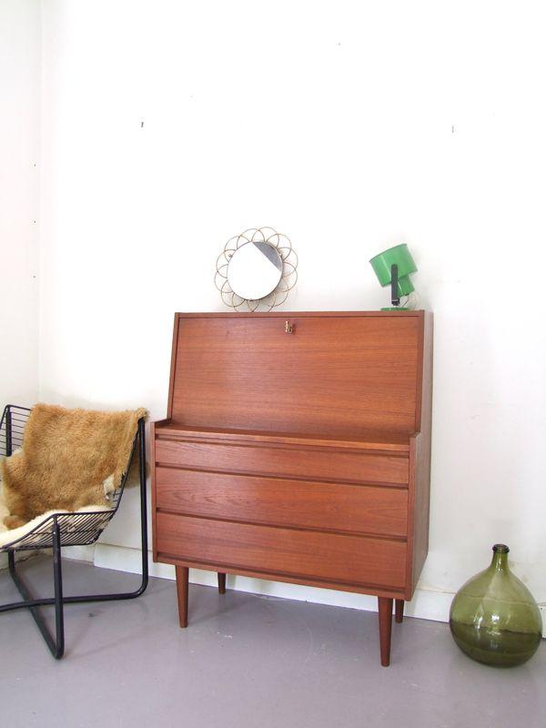Meuble Secretaire Danois Mobilier De Salon Meuble Vintage Commode Vintage