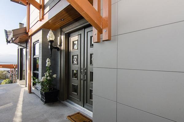 Nichiha ArchitecturalBlock fiber cement panels offer a crisp, clean look for modern-style residential exteriors. #nichiha #fibercement #exteriors #cladding #modern