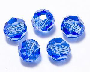 ID3192 - 6mm Sapphire Swarovski® Crystal Round Beads (Article 5000)(1)
