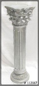 Pedestal Silver 40 inch   11x11x40  Corinthian