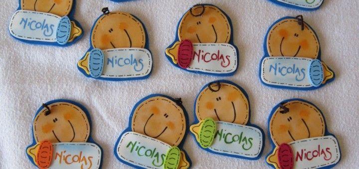 Souvenir en goma eva para Baby Shower