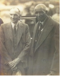 George Washington Carver and Henry Ford in Richmond Hill, GA