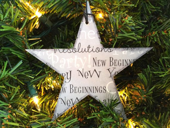 New Year Christmas Ornament New Year Ornament by AtHomeWithWords