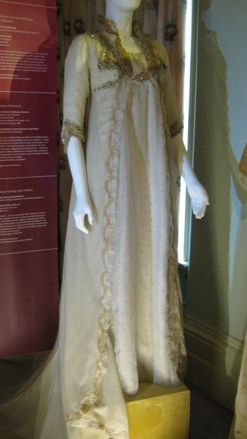 The wedding dress worn by Kate Winslett when she portrayed Marianne Dashwood in Sense and Sensibility.