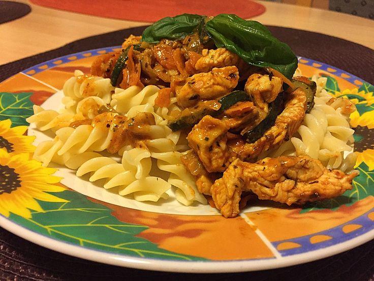 Chefkoch.de Rezept: Putengeschnetzeltes Toskana