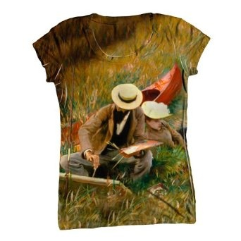 "Buy ArtsyClothingCo-""Sargent -""Outdoors Study"" (1889)"" Womens- C-Neck T-Shirt Top-X-Large Special Prices - http://bestcomparemarket.com/buy-artsyclothingco-sargent-outdoors-study-1889-womens-c-neck-t-shirt-top-x-large-special-prices"