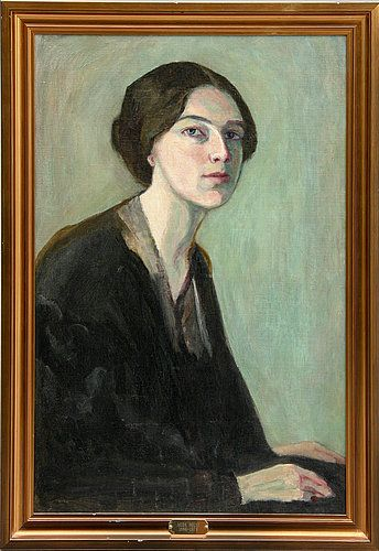 AGDA HOLST (1886-1976) Self portrait