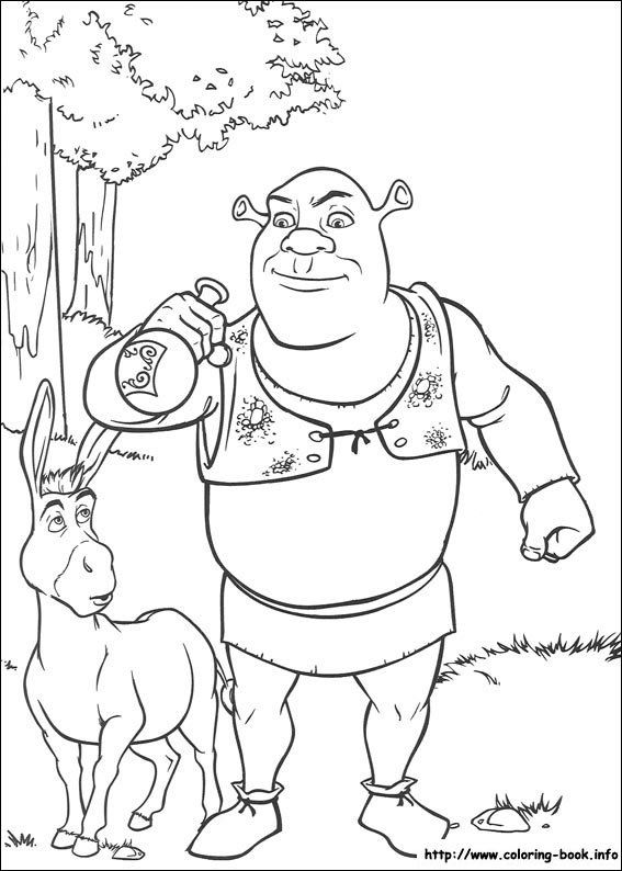 Shrek Coloring Pages Cartoon Coloring Pages Disney Coloring